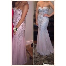 Pink RoyalQueen Collection USA maxi formal / prom dress sweetheart neckline embellished and fitted