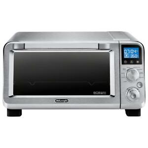 NEW DeLonghi Livenza Compact Convection Oven - 0.5 Cu. Ft. - Stainless Steel