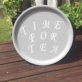 Time for Tea shabby chic Tray