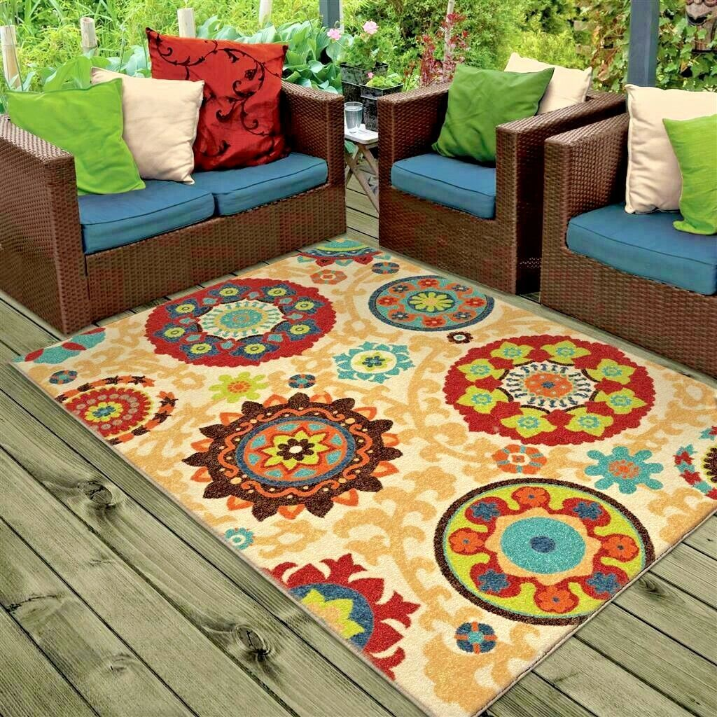 Details About Rugs Area 8x10 Outdoor Indoor Carpet Kitchen Large Patio