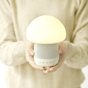 LED Bedside Table Lamp Touch Sensor Mushroom Night Light with Bluetooth Speaker