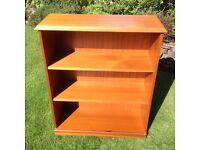 Solid Light Wood Veneer Bookcase.