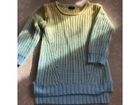 Size 6 ombre yellow baby blue knitted jumper