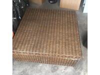 Wicker large coffee table storage box