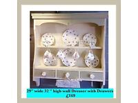 Vintage , shabby chic wall dresser