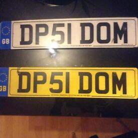 Personalised number plate DOM