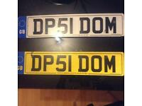 Personalised plate DOM
