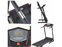 DYNAMIX ELECTRIC MOTORISED TREADMILL (FOLDABLE) HARDLY BEEN USED WITH LCD DISPLAY AND CUP HOLDERS