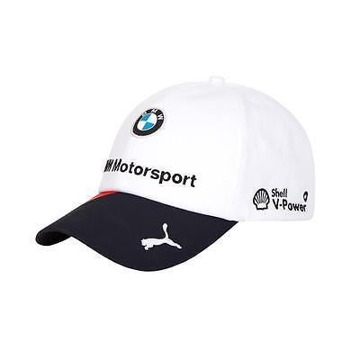 BMW Motorsports M-Power Men's Team White w/Blue Brim Hat with Puma Logo on Brim