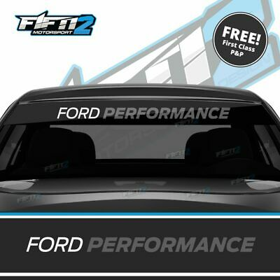 Ford Fiesta Ford Performance Anthracite Grey Sunstrip Decal Sun Strip