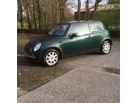 Mini One 1.6 2002 '51 plate very low mileage of 27000miles first car damaged Devon vehicle salvage