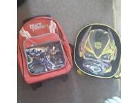 Transformers travel bag and rucksack