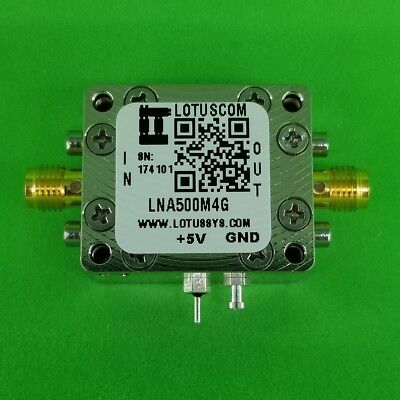 Broadband Low Noise Amplifier 1.3db Nf 500mhz To 4ghz 21db Gain 22dbm P1db Sma