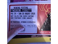 Selling Reading Festival Camping Ticket