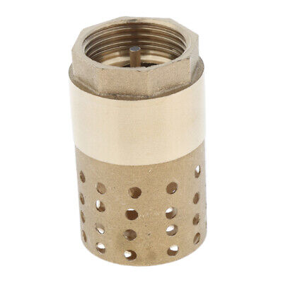 Brass Foot Valve Mesh, for Water Oil, w/ Holes Strainer Filter DN25 1Inch