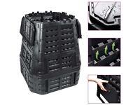 Garden Composter Black 93.3x93.3x113 cm 740 L-146277