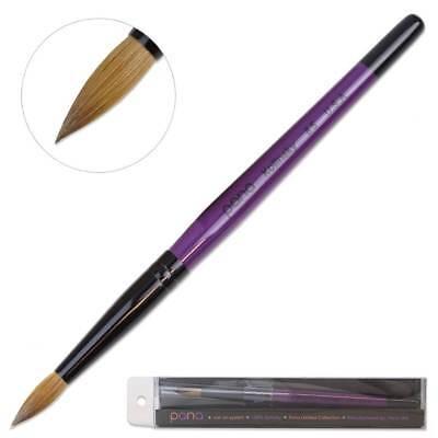 Pana Professional 100% Kolinsky Acrylic Nail Art Brush with Purple Wood Size 8 (Purple Nail Art)