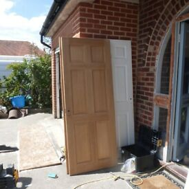 2 INTERNAL OAK DOORS