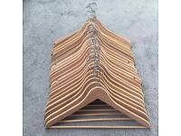 24 wooden hangers