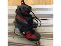 K2 80 Mini children size inline skates. UK size: 1-3