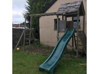 Large wooden children's climbing frame/slide/swing etc