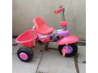 Girls pink purple smart trike £10 ono