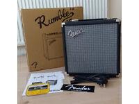 Fender Rumble 15 V3 15watt Bass amp in mint condition