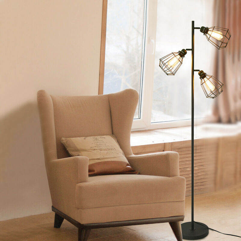 Mid Century Modern Floor Lamp 3-Light Tree Adjustable Aged L