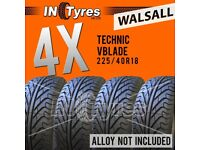 4x 225/40R18 Technic Vblade Sport Tyres Fitting Available 225 40 18 Tyres x4