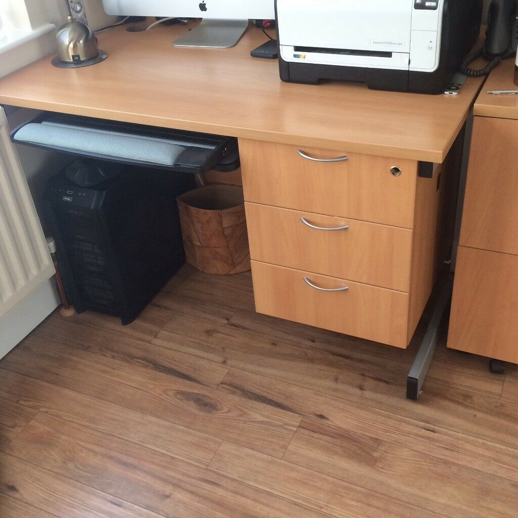 Home Office Furniture. A Desk,and Two Cabinets For Sale