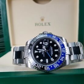NEW!! Rolex 'BATMAN' GMT MASTER, includes Box, bag & paperwork. Collection/post. 1yw. £140