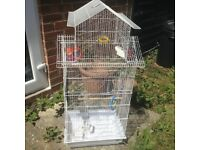 Bird cage 35x45x105cm with stand