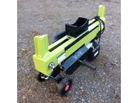 Logmaster DUAL-SPLIT 6-Ton Electric 230V Hydraulic Wood Log Splitter AS NEW + WARRANTY! RRP £350!