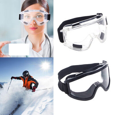 Safety Goggles Ski Snowboard Motorcycle Eyewear Glasses Eye Protection Work Lab