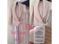 Ted Baker size 2 (UK 10) cashmere mix wrap cardigan