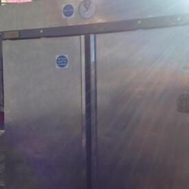 2 double door stainless steel fridge / freezer