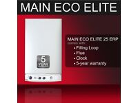 Boiler Mains 25 eco Combi 5 Years Warrenty with Flue/Clock