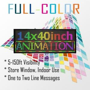 14 x 40 inch Programmable Scrolling LED Sign for Store Window Sign