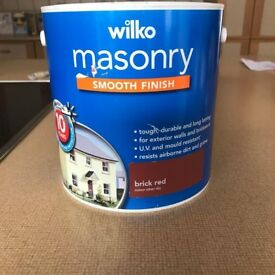 Masonry Paint Brick Red 2.5 Litres NEW