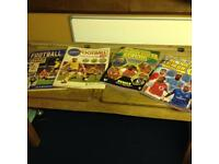 Panini football sticker albums complete.