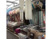 Curtain, bedding, fabric and cushion cover leasehold business for sale on the popular Bury Market.
