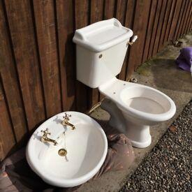 WC and wash hand basin