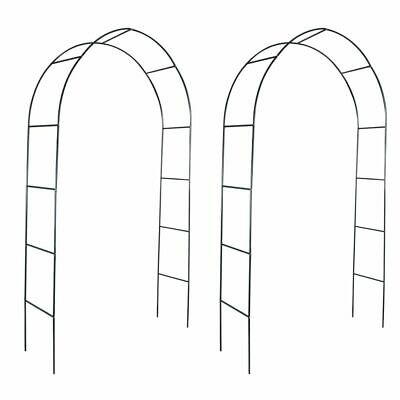 Set of 2 Garden Iron Arch Arbour Pergola Trellis Archway Climbing Plants Support