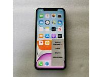 APPLE IPHONE 11 64GB WHITE UNLOCKED TO ALL NETWORKS WITH RECEIPT