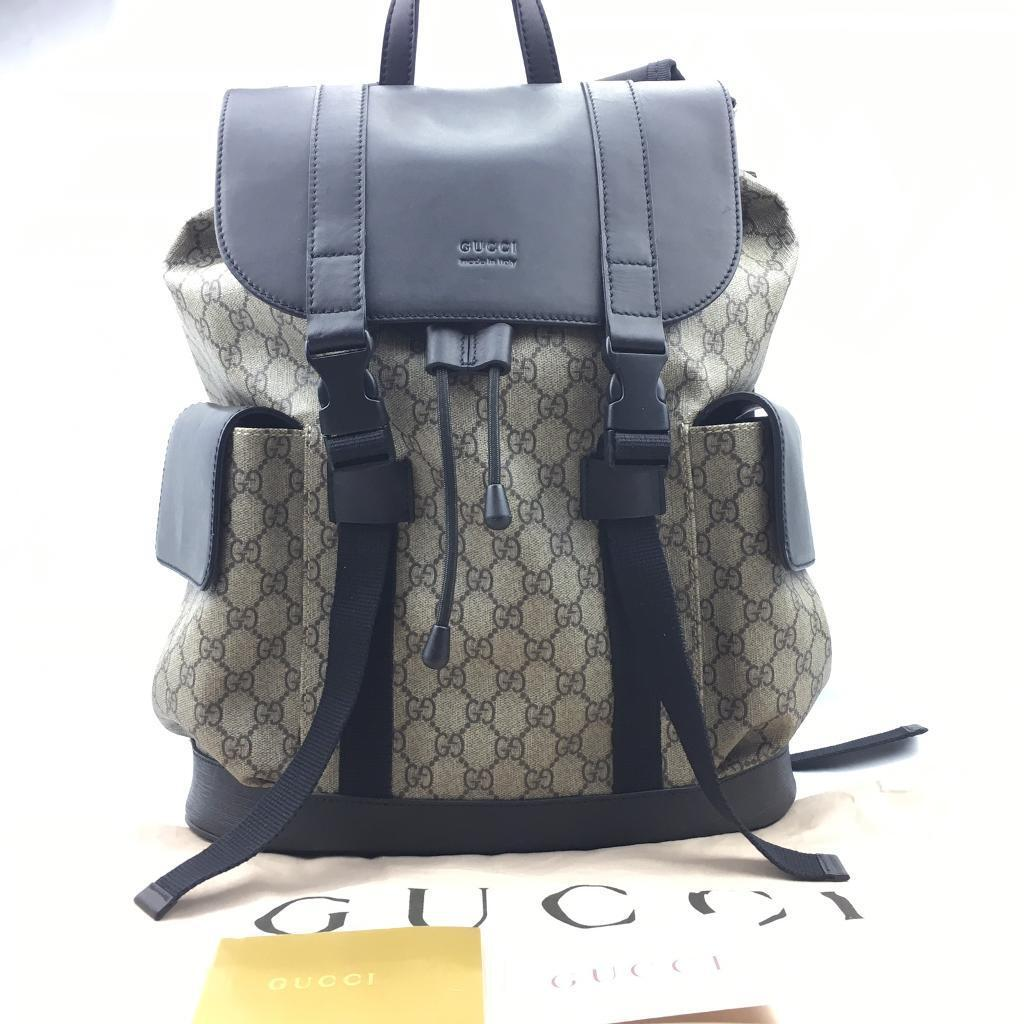 8127ad733f4245 Gucci Courrier Soft Gg Supreme Drawstring Backpack Price- Fenix ...