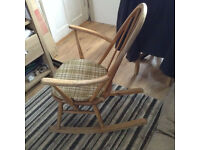 Ercol Blonde 1960 Rocking Chair with original seat cover £85