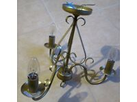 Ceiling Lights/Chandelier - matte brass finish