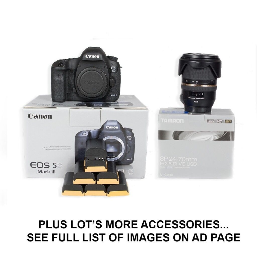 Canon 5D MK3 (iii) + Tamron 24-70mm F2.8 AF Lense + Accessories