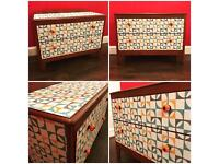Lovely retro-inspired chest of drawers, cupboard, unique, one-off
