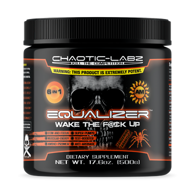 EQUALIZER AM by Chaotic Labz 6 in 1 BEST PRE-WORKOUT FORMULA